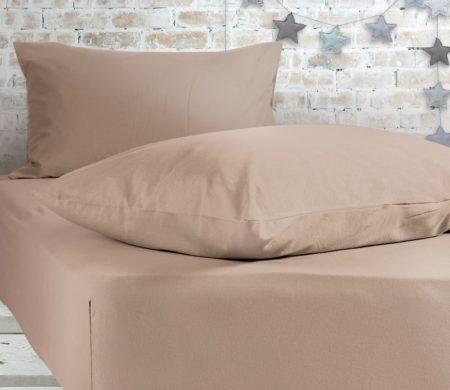 Σεντόνι υπέρδιπλο με λάστιχο 160x200+30 Linen Jersey Collection - Nef-Nef