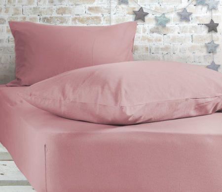 Σεντόνι μονό με λάστιχο Pink Jersey Collection - Nef-Nef