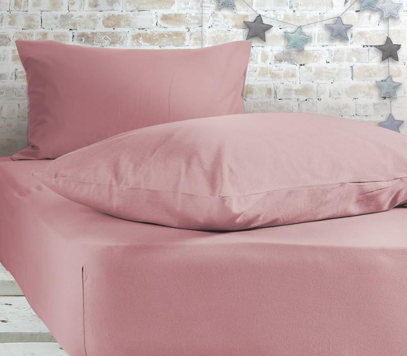 Σεντόνι υπέρδιπλο με λάστιχο Pink Jersey Collection - Nef-Nef