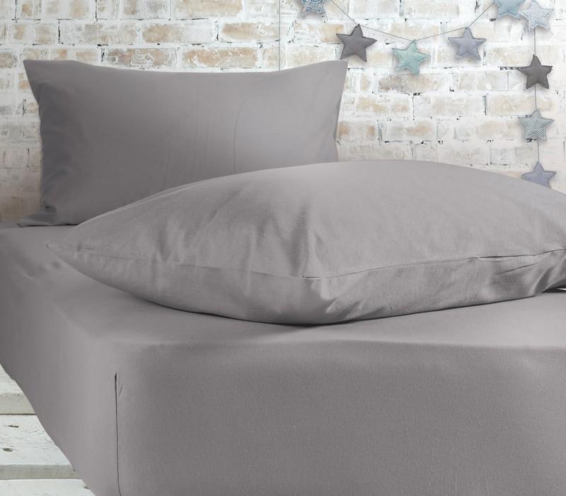 Σεντόνι μονό με λάστιχο Light Grey Jersey Collection - Nef-Nef