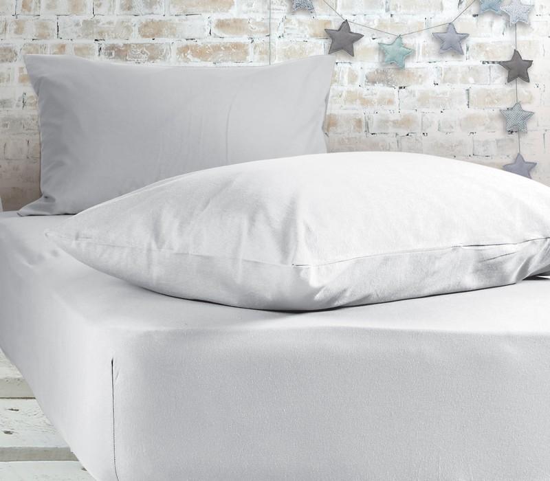 Σεντόνι μονό με λάστιχο White Jersey Collection - Nef-Nef