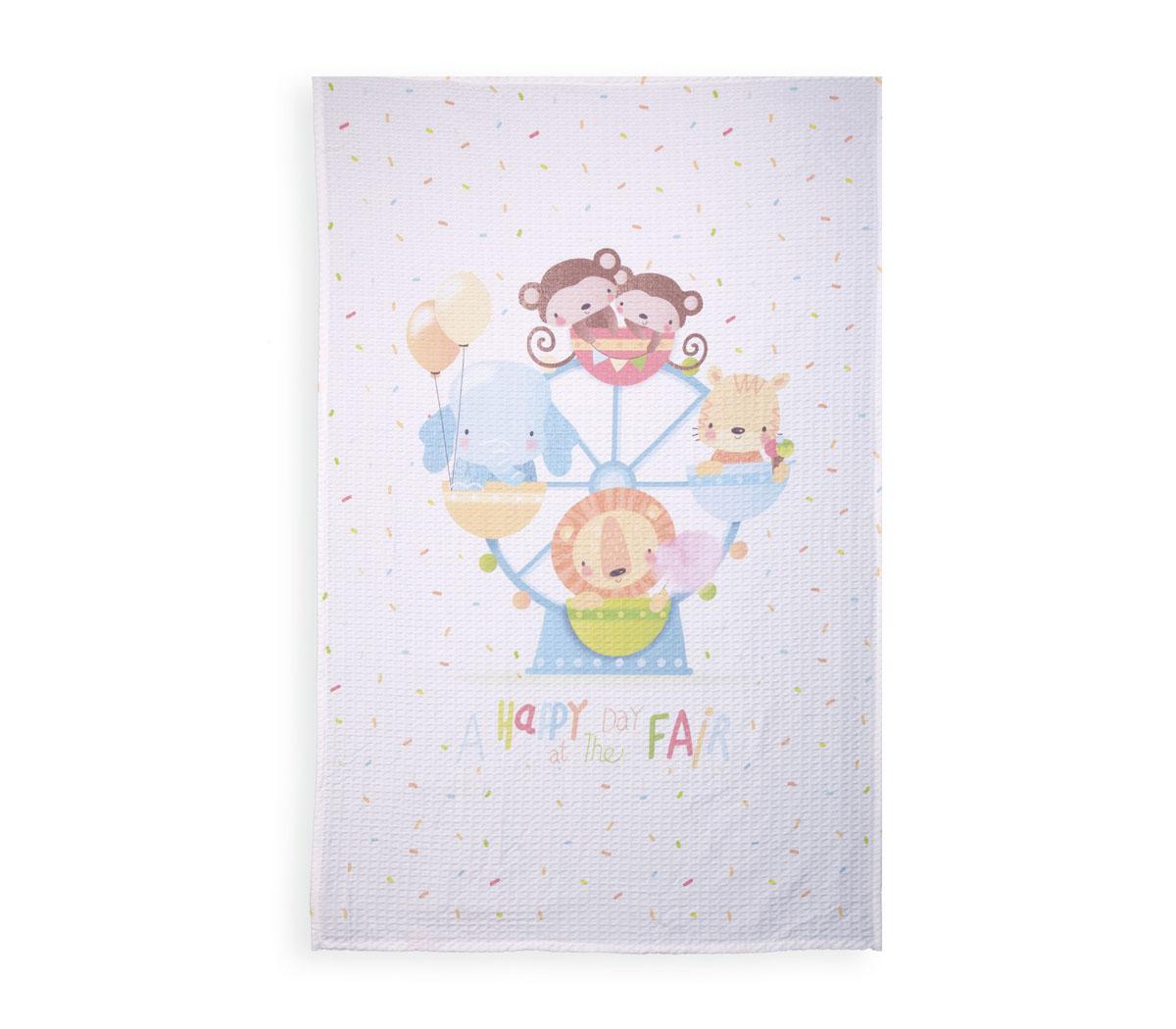 Βρεφική Κουβέρτα Πικέ 80Χ110 Nef Nef Louna Park White