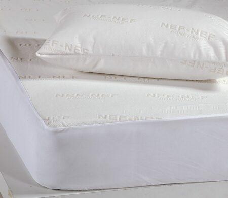 Προστατευτικό στρώματος υπέρδιπλο Ζακάρ White Linen Collection - Nef-Nef