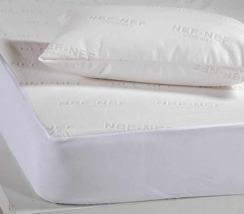 Προστατευτικό στρώματος υπέρδιπλο Ζακάρ White Linen Collection – Nef-Nef