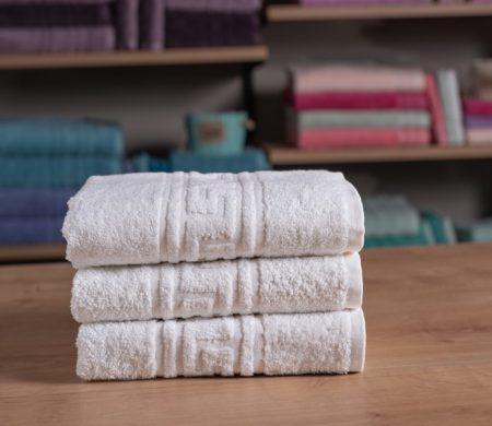Πετσέτα προσώπου ξενοδοχείου (50x100) 500 γρ/μ² Μαίανδρος Πεννιέ