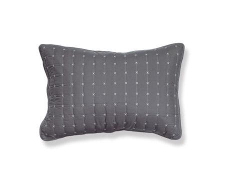 Μαξιλαροθήκες σετ 2τμχ 52x72 Anthracite/Ecru Bicolor-20 Bedcovers Collection - Nef-Nef