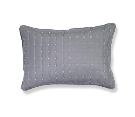 Μαξιλαροθήκες σετ 2τμχ 52x72 D.Grey/L.Grey Bicolor-20 Bedcovers Collection - Nef-Nef