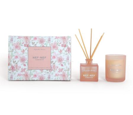 Αρωματικό κερί & αρωματικό χώρου με sticks Magnolia Dream Home Fragrances Collection - Nef-Nef