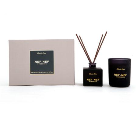 Αρωματικό κερί & αρωματικό χώρου με sticks Black Pine Home Fragrances Collection - Nef-Nef