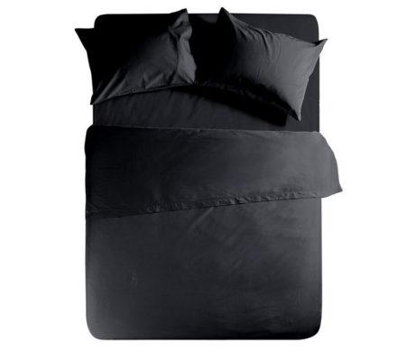 Σεντόνι μονό με λάστιχο 100x200+30 Black Basic Collection - Nef-Nef