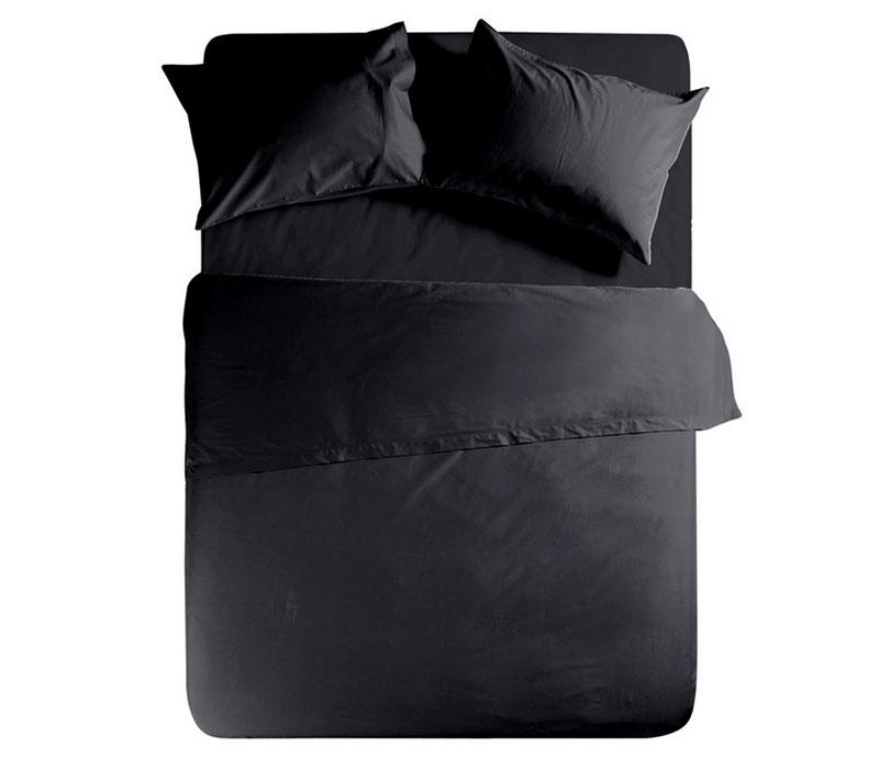 Σεντόνι υπέρδιπλο με λάστιχο 160*200+30 Black Basic Collection - Nef-Nef