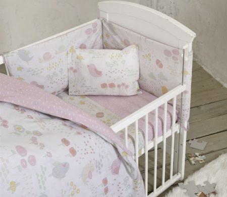 Σεντόνια Κούνιας σετ 3(τμχ) Cuckoo Baby Collection - Nima