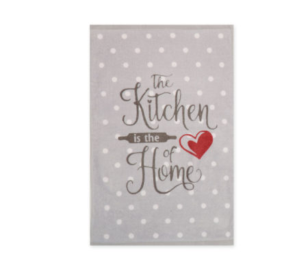 Πετσέτα κουζίνας βελουτέ 40x60 Heart Of Home Grey Kitchen Collection - Nef-Nef