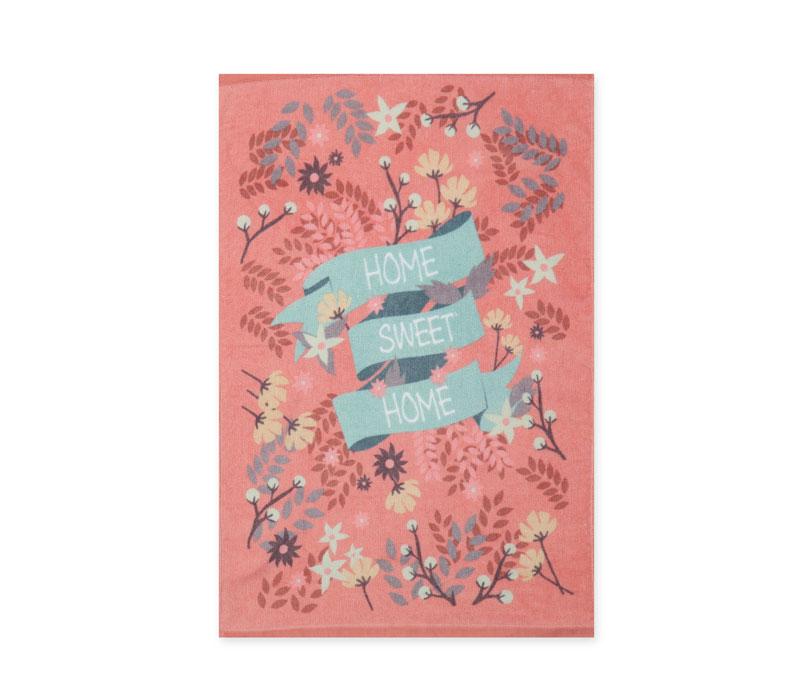 Πετσέτα κουζίνας βελουτέ 40x60 Home Sweet Home Pink Kitchen Collection - Nef-Nef