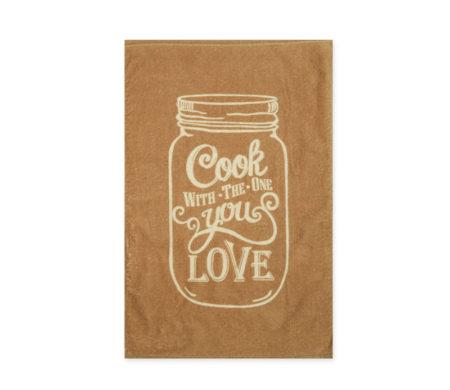 Πετσέτα κουζίνας βελουτέ 40x60 Love Mustard Kitchen Collection - Nef-Nef