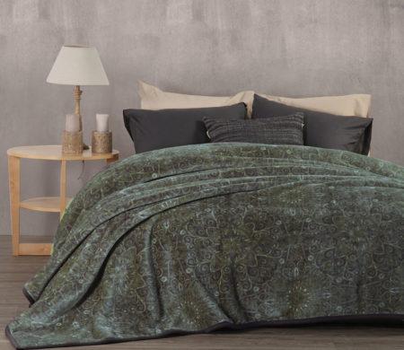 Κουβέρτα υπέρδιπλη 220x240 Realta Petrol Bedcover Collection - Nef-Nef