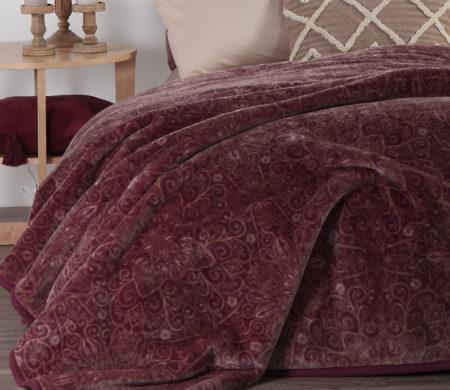 Κουβέρτα υπέρδιπλη 220x240 Realta Wine Bedcover Collection - Nef-Nef