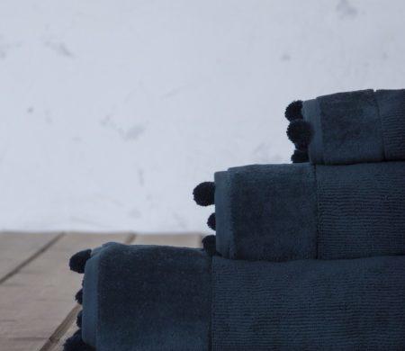 Πετσέτα χεριών 30*50 Plush blue Bath Collection - Nima