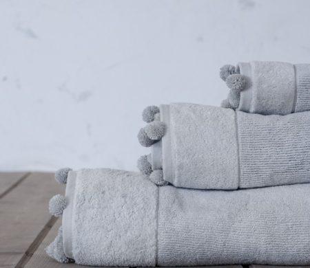 Πετσέτα χεριών 30*50 Plush grey Bath Collection - Nima