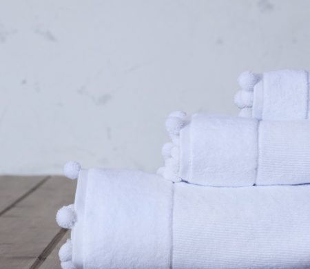 Πετσέτα χεριών 30*50 Plush white Bath Collection - Nima