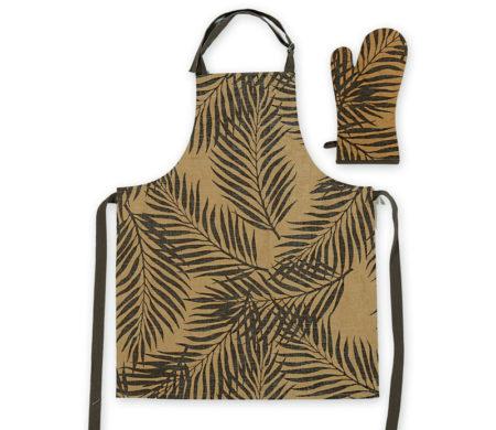 Σετ κουζίνας ποδιά-γάντι Herb Mustard Kitchen Collection - Nef-Nef