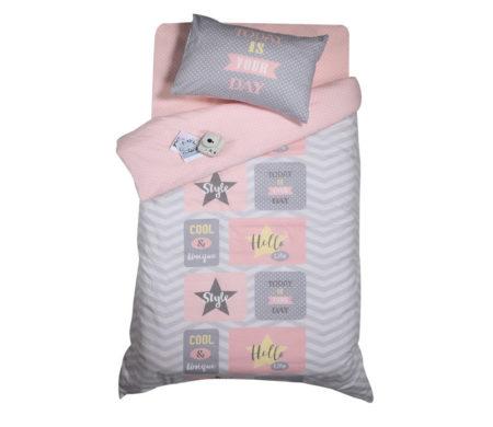 Παπλωματοθήκη μονή σετ 2(τμχ) 160x240 Today is your day Pink Teens Collection - Nef-Nef