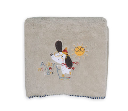 Κουβέρτα κούνιας 110x150 fleece A day at the park Baby Collection - Nef-Nef
