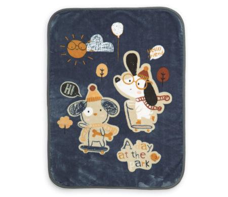 Κουβέρτα κούνιας 100x140 A day at the park Baby Collection - Nef-Nef