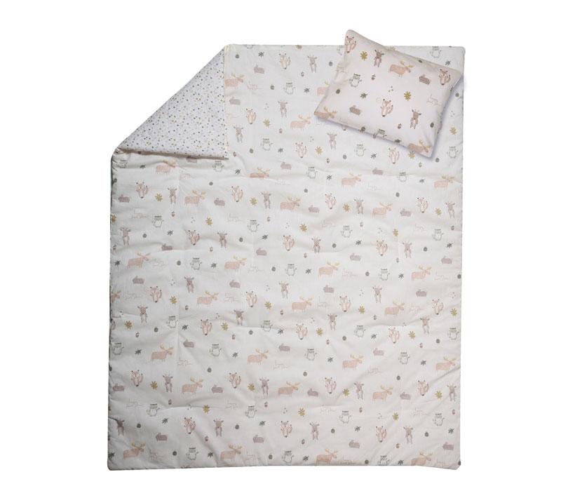 Παπλωματοθήκη κούνιας σετ 2τμχ Forest Land Baby Collection - Nef-Nef