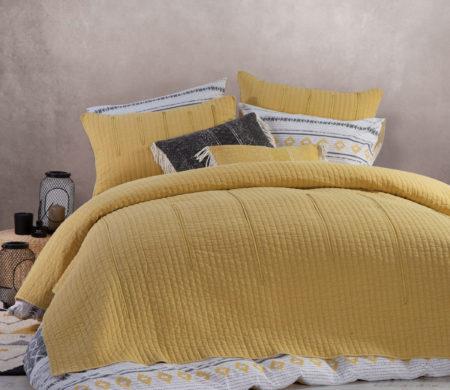 Κουβερλί υπέρδιπλο 230*240 Matter Mustard Bedcovers Collection - Nef-Nef