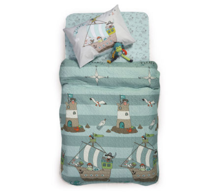 Κουβερλί μονό 160x220 Sail like a pirate Junior Collection - Nef-Nef