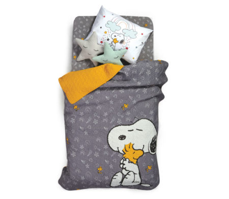 Κουβερλί μονό 160x220 Snoopy rainbow Junior Collection - Nef-Nef