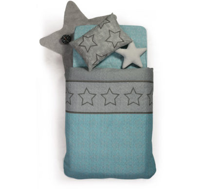 Κουβερλί μονό 160x220 Super star grey Junior Collection - Nef-Nef