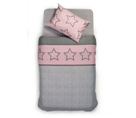 Κουβερλί μονό 160x220 Super star pink Junior Collection - Nef-Nef
