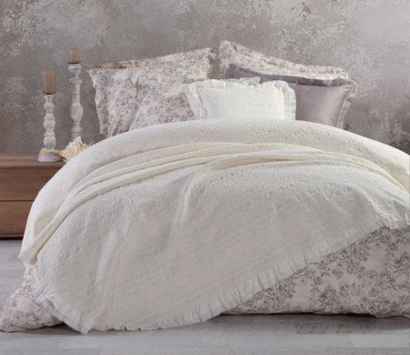 Κουβέρτα υπέρδιπλη 230*250 Aurelia Ecru Bedcovers Collection - Nef-Nef