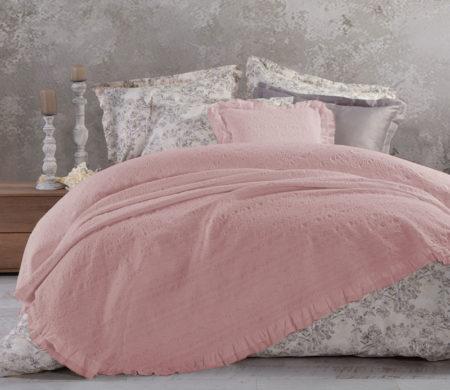Κουβέρτα υπέρδιπλη 230*250 Aurelia Pink Bedcovers Collection - Nef-Nef