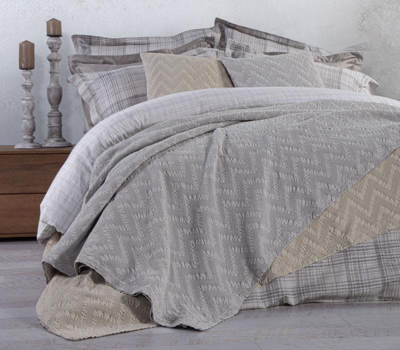 Κουβέρτα υπέρδιπλη 230*250 Felix Grey Bedcovers Collection - Nef-Nef