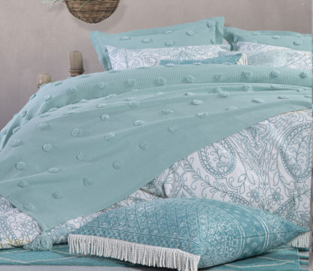 Κουβερλί υπέρδιπλο 230*240 Indila Aqua Bedcovers Collection - Nef-Nef