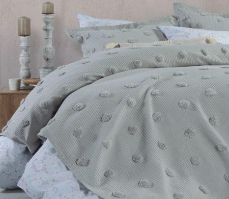 Κουβερλί υπέρδιπλο 230*240 Indila L.Grey Bedcovers Collection - Nef-Nef