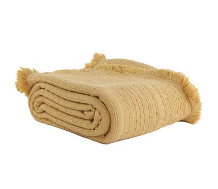 Κουβέρτα υπέρδιπλη 230*250 Madison Mustard Bedcovers Collection - Nef-Nef
