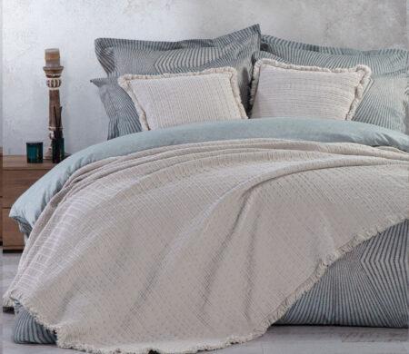 Κουβέρτα υπέρδιπλη 230*250 Madison Grey Bedcovers Collection - Nef-Nef