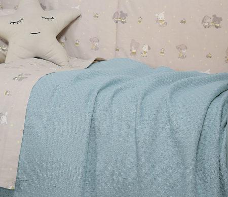 Κουβέρτα αγκαλιάς 80x100 Smooth blue Baby Collection - Nef-Nef