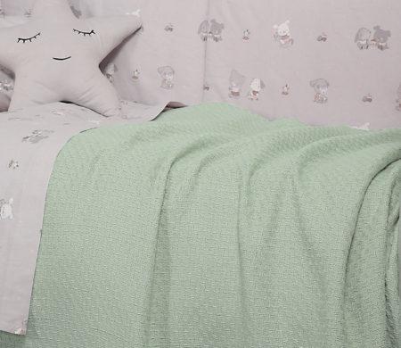 Κουβέρτα αγκαλιάς 80x100 Smooth green Baby Collection - Nef-Nef