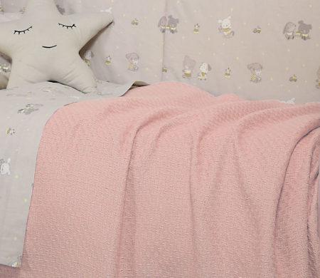 Κουβέρτα αγκαλιάς 80x100 Smooth pink Baby Collection - Nef-Nef