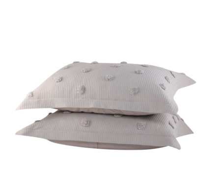 Μαξιλαροθήκες σετ 2τμχ 52x72 Indila L.Grey Bedcovers Collection - Nef-Nef