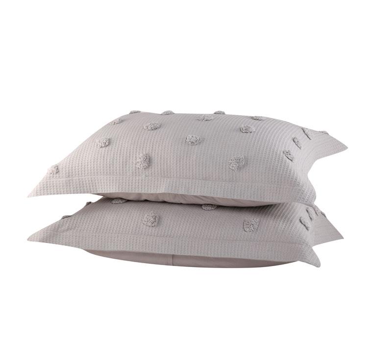 Μαξιλαροθήκες σετ 2τμχ 52×72 Indila L.Grey Bedcovers Collection – Nef-Nef