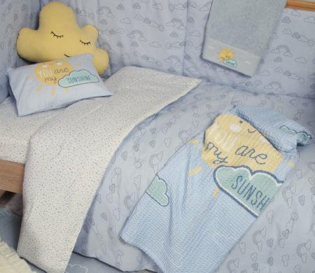 Κουβερλί κούνιας 110*140 Sunshine Baby Collection - Nef-Nef