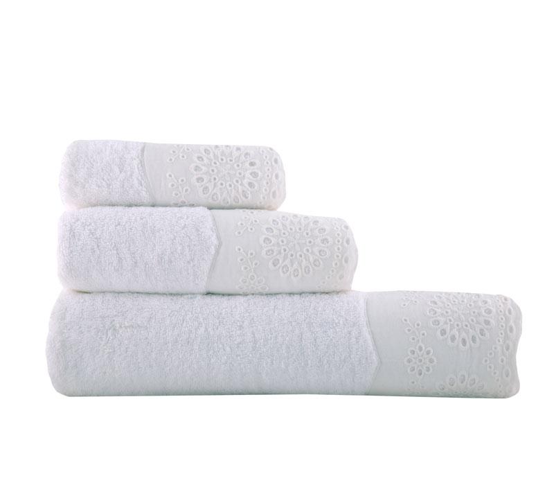 Σετ Πετσέτες 3 τμχ Teresa white Bathroom Collection - Nef-Nef