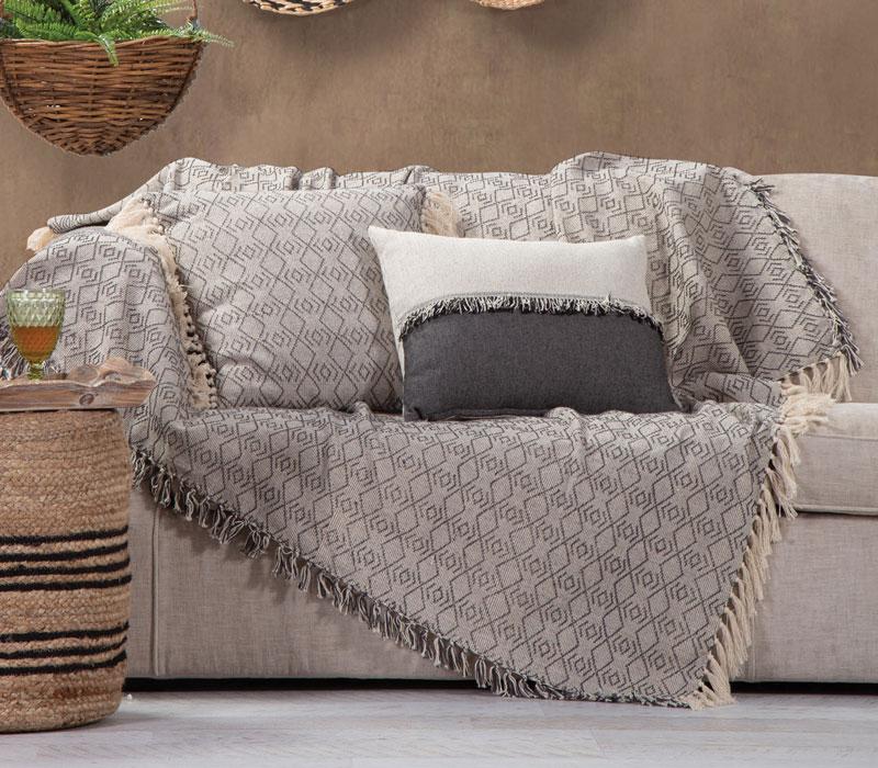 Ριχτάρι τριθέσιου καναπέ 180x300 Nigrit Black Living Room Collection - Nef-Nef
