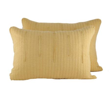 Μαξιλαροθήκες σετ 2τμχ 52x72 Matter Mustard Bedcovers Collection - Nef-Nef